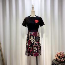 Cosplay women's wear jacket goods in stock Over 14 years old Black T-shirt + skirt, white T-shirt + skirt comic S,XL,L,M