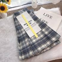 skirt Spring 2021 XS 1 foot 8 (70-80 Jin), s 1 foot 9 (81-94 Jin), M 2 foot (95-102 Jin), L 2 foot 1 (103-110 Jin), XL 2 foot 2 (111-118 Jin), XXL 2 foot 3 (119-128 Jin) Short skirt High waist Pleated skirt zipper