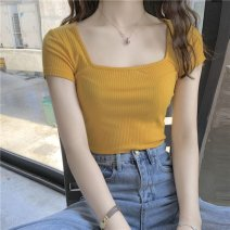 Outdoor casual clothes Tagkita / she and others female forty-seven point nine six Yellow, black, white, purple, blue, rose red, green, collection and purchase priority delivery Under 50 yuan S,M,L,XL other Summer 2020 Short sleeve summer have cash less than that is registered in the accounts