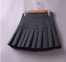 skirt Autumn 2020 S (1-7-1-8 waist recommended), m (1-9-2 waist recommended), l (2-1-2-2 waist recommended), XL (2-3-2-4 waist recommended), 2XL (2-4-2-7 waist recommended) Short skirt fresh High waist Pleated skirt Solid color Type A JX813 71% (inclusive) - 80% (inclusive) Wool