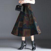 skirt Autumn 2020 S M L XL 2XL 1922 leaf flower 1923 geometric flower 1924 flower Middle-skirt commute Natural waist A-line skirt Decor 35-39 years old A#60986560637360583558249559_ ninety-five More than 95% other Otichun other printing Korean version Other 100%