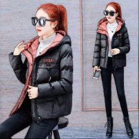 Cotton padded clothes M,L,XL,2XL,3XL Winter 2020 Other / other have cash less than that is registered in the accounts Long sleeves thickening zipper commute Hood routine Straight cylinder letter Korean version 31% (inclusive) - 50% (inclusive) cotton other 25-29 years old