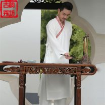 Clothing of other nationalities youth washing leisure time Button decoration Ancient charm show Solid color XS,S,M,L,XL,XXL Single piece (robe), suit (robe + pants)