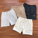 Casual pants Others Youth fashion S,M,L,XL routine Shorts (up to knee) motion Straight cylinder Micro bomb summer 2020 middle-waisted Alphanumeric Fleece cotton Hemp cotton