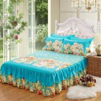 Bed skirt 2 pillowcases for bed skirt 1.2x2m, 2 pillowcases for bed skirt 1.5X2m, 2 pillowcases for bed skirt 1.8x2m and 2 pillowcases for bed skirt 2.0x2.2m cotton Other / other Plants and flowers Qualified products
