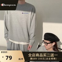 Sweater Youth fashion Park champion Black white light grey S M L XL 2XL 4XL 5XL 3XL Solid color Socket routine Crew neck autumn easy motion teenagers tide Off shoulder sleeve Fleece  Cotton 100% cotton printing washing Autumn 2020 More than 95% Exclusive payment of tmall Japanese and Korean style
