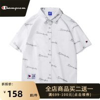 shirt Youth fashion Park champion M L XL 2XL 3XL white routine Pointed collar (regular) Short sleeve easy Other leisure summer youth Cotton 100% tide 2021 Letters / numbers / characters Spring 2021 No iron treatment cotton printing Pure e-commerce (online only) More than 95%