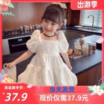 Dress white female Other / other 90cm,100cm,110cm,120cm,130cm,140cm,150cm Other 100% summer princess Short sleeve Broken flowers cotton Cake skirt G36C262 Class B 2, 3, 4, 5, 6, 7, 8, 9, 10, 11, 12, 13, 14 years old Chinese Mainland
