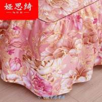 Bed skirt 2 pillowcases for bed skirt 2x2.2m, 2 pillowcases for bed skirt 1.2x2m, 2 pillowcases for bed skirt 1.8x2.2m, 2 pillowcases for bed skirt 1.5X2m and 2 pillowcases for bed skirt 1.8x2m cotton Other / other Plants and flowers First Grade