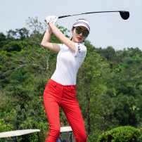 Golf apparel White coat, red trousers, white with black hat S. M, l, XL, one size fits all female SWAN LOVE GOLF trousers