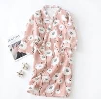 Nightgown / bathrobe Other / other female M, l thickening Simplicity cotton winter More than 95% Knitted cotton clip Plants and flowers youth printing