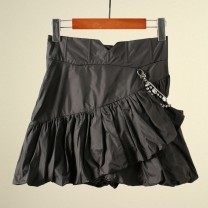 skirt Spring 2021 XS,S,M black Short skirt gorgeous High waist Pleated skirt Solid color Type A LF21X11S01B001 More than 95% brocade Yang Di Su nylon 201g / m ^ 2 (including) - 250G / m ^ 2 (including)