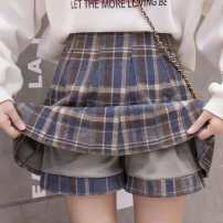 skirt Autumn 2020 S is suitable for 80-95 Jin, M is suitable for 96-105 Jin, l is suitable for 106-119 Jin, XL is suitable for 120-135 Jin Short skirt commute High waist A-line skirt lattice Type A 18-24 years old TYL30301389 More than 95% Wool Other / other other bow Korean version