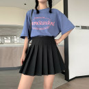 skirt Summer 2020 S M L XL Short skirt Versatile High waist Solid color More than 95% polyester fiber Polyester 100%
