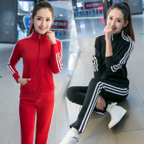 Casual suit Spring 2020 Black suit red suit rose suit blue suit M L XL XXL XXXL 18-25 years old X9 Qiaoxizi 96% and above polyester fiber Polyester 100% Pure e-commerce (online only)