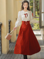 Fashion suit Winter 2020 S,M,L Top and skirt, lace top, skirt Other / other