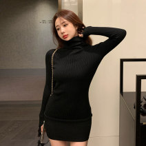Dress Winter 2020 S M L Mid length dress singleton  Long sleeves commute High collar High waist Socket other other Others 18-24 years old Korean version More than 95% other Other 100% Pure e-commerce (online only)