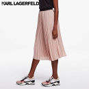 skirt Autumn 2020 38 40 42 44 Smoke rose pink Mid length dress Natural waist Pleated skirt 205W1203567-20208 More than 95% Karl Lagerfeld polyester fiber Polyester 100% Same model in shopping mall (sold online and offline)