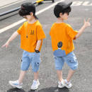 suit 2 pieces Condom children Expression of love B78458 Three, four, five, six, seven, eight, nine, ten, eleven, twelve Pinbalabala Anyang City male cotton Short sleeve + pants summer Solid color routine There are models in the real shooting motion nothing Chinese Mainland Cotton 95% other 5% Class B