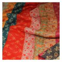 Fabric / fabric / handmade DIY fabric hemp Half meter price Loose shear piece Plants and flowers printing and dyeing clothing Chinese style Other / other