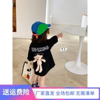 T-shirt Black short sleeve bear, white short sleeve bear, black long sleeve bear, white Long Sleeve bear, purple long sleeve bear 90cm, 100cm, 110cm, 120cm, 130cm, 140cm, 150cm, s (adult), m (adult), l (adult), XL (adult), XXL (adult) female spring and autumn Long sleeves Crew neck leisure time other
