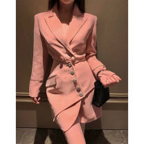 Yoga clothes S,M,L,XL,2XL Pink coat + skirt female Other / other suit children Long sleeves