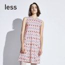 Dress Summer of 2018 694 / light miscellaneous powder XS S M L XL Mid length dress singleton  Sleeveless commute Crew neck other 30-34 years old Type A LESS Simplicity More than 95% cotton Cotton 100% Same model in shopping mall (sold online and offline)