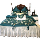 Bedding Set / four piece set / multi piece set cotton Embroidery Plants and flowers 200x95 Dream after dream cotton 4 pieces 60 1.5m (5 feet) bed, 1.8m (6 feet) bed, 1.8m bed (220 * 240cm quilt cover), 2.0m bed (220 * 240cm quilt cover) Qualified products 100% long-staple cotton Reactive Print