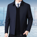 Jacket Beirui Youth fashion Black, navy blue thin Super slim Travel? Four seasons Polyester 100% Long sleeves Wear out Lapel Business Casual middle age short Zipper placket 2020 Straight hem No iron treatment The appearance is loose and the inside is closed Solid color polyester fiber other