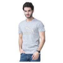 T-shirt Youth fashion Black, white, gray, blue, dark gray routine S,M,L,XL,2XL,3XL,4xl,5xl Puma International Short sleeve Crew neck standard daily summer Cotton 100% youth routine Simplicity in Europe and America other 2021 Solid color Embroidered logo cotton other washing Fashion brand