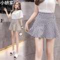 skirt Summer 2020 S,M,L,XL,2XL Hagrid. Hagrid Short skirt Versatile High waist A-line skirt lattice Type A brocade other zipper