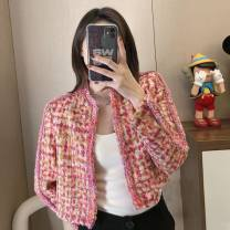 Bras Pink coat S,M,L,XL T-type Fresh time fixed shoulder strap other detachable shoulder strap Side four row buckle Mild steel ring other Other / other Developmental students (7-18 years old) other lattice