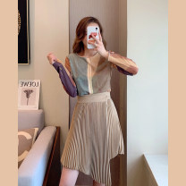 Fashion suit Spring 2021 S M L Top and skirt 25-35 years old Nine neon F6726 Other 100% Pure e-commerce (online only)