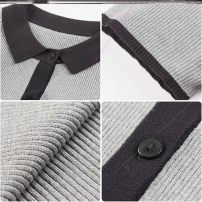 Wool knitwear Summer 2020 S,M,L,XL L69 - Grey Short sleeve singleton  Socket other 31% (inclusive) - 50% (inclusive) Regular routine commute easy Polo collar routine Color matching Socket Korean version A65451 18-24 years old Other / other Button