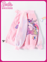 Plain coat Barbie / Barbie female 110cm 120cm 130cm 140cm 150cm 160cm spring and autumn princess Zipper shirt No model routine nothing Cartoon animation other other BA1115 Polyester 100% Class B Autumn 2020