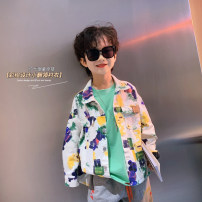 Plain coat Light AI neutral White, white spring and autumn leisure time Single breasted There are models in the real shooting routine nothing Cartoon animation cotton Lapel