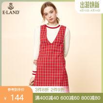 Dress Summer of 2018 Red / 20 155/XS 160/S 165/M 170/L Miniskirt singleton  Sleeveless Sweet V-neck High waist A-line skirt 25-29 years old E·LAND More than 95% other Other 100% princess