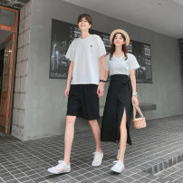 T-shirt Men's pants, men's T-shirt, women's skirt, women's T-shirt S,M,L,XL,2XL,3XL Spring 2021 Short sleeve Crew neck easy Regular routine Sweet cotton 86% (inclusive) -95% (inclusive) 18-24 years old youth Serenity of Xiao Li