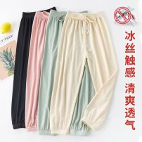 trousers Other / other female 110cm,120cm,140cm,150cm,130cm Bean green [cool ice], pink [cool ice], black [cool ice], beige [cool ice] summer trousers leisure time Combat trousers Don't open the crotch Class B See description 3 months