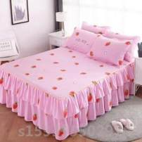 Bed skirt Two pillowcases for 150x200cm, two pillowcases for 180x220cm, two pillowcases for 200x220cm, two pillowcases for 120x200cm, two pillowcases for 180x200cm~  cotton Other / other Plants and flowers