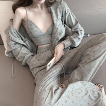 Fashion suit Spring 2021 S M L XL XXL Three piece suit smiling face pants 18-25 years old Stream leisurely grass 968# Other 100% Exclusive payment of tmall
