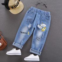 trousers Jiayi clothes male 120cm,100cm,110cm,90cm,140cm,130cm One button pants - blue, dark high elastic pants, potato chips pants, geometric square pants, big smile pants, hole pants, bear frog pants, one button pants - gray, dark chips, wow pants, Luke bear pants, soybean pants trousers Versatile