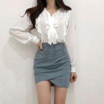 skirt Asymmetric, zipper Summer 2020 Other / other Short skirt High waist commute skirt Solid color 18-24 years old Type O N59563 XS,S,M,L F81-l-blue, i36-n-black