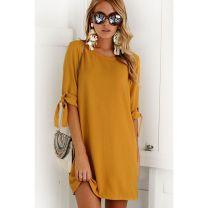 Dress Autumn of 2018 Khaki, orange, purple, gray, green, black, no S,M,L,XL Short skirt singleton  elbow sleeve street middle-waisted Socket Others Europe and America