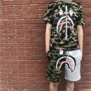 Casual pants iuuranus Youth fashion routine Shorts (up to knee) Other leisure easy Micro bomb summer youth Youthful vigor 2020 middle-waisted Straight cylinder Sports pants printing washing Terry cloth cotton cotton Non brand More than 95%