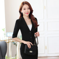 T-shirt black , Single black skirt , Single pair of black trousers , [black] medium sleeve coat + skirt , [black] medium sleeve coat + trousers , [black] medium sleeve coat + skirt + White sling , [black] medium sleeve coat + trousers + White sling Caroline S,M,L,XL,XXL,XXXL,4XL,5XL,6XL currency Lace