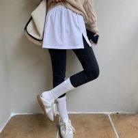 skirt Winter 2020 Average size Miniskirt Versatile High waist A-line skirt Solid color Type H 25-29 years old other Other / other hole 161g / m ^ 2 (including) - 180g / m ^ 2 (including)
