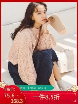 Fashion suit Winter of 2018 S,M,L Pink top + blue skirt, pink top, blue skirt 18-25 years old Ant Q baby 91189a acrylic fibres