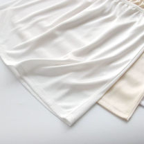 skirt Summer of 2019 Black, white, apricot, milk white Short skirt Versatile Natural waist other Solid color 18-24 years old knitting
