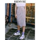 skirt Summer 2021 01/S 02/M 03/L Purple Plaid Mid length dress High waist lattice Type H 18-24 years old RC8320680041SK0 More than 95% RIENY RE polyester fiber Polyester 98.2% polyurethane elastic fiber (spandex) 1.8%